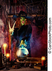 blackmagic magician - Fairy wicked witch in the wizarding...