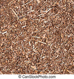 Wooden mulch ground fragment - Wooden mulch ground's...