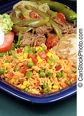 exquisite mexican food - perfectly made mexican machaca beef...