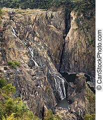 Barron cascading waterfall, Queensland Australia. - Barron...