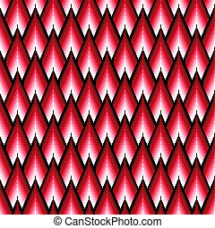 Seamless pattern with red elements - Seamless vector pattern...