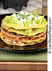 Mexican tostada ahogada - This delicious mexican dish is...