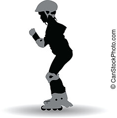 Illustration of a roller girl