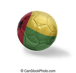 Guinea Bissau Football - Football ball with the national...