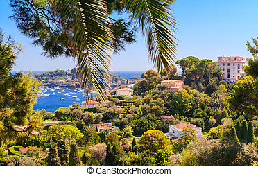 French Riviera - Aerial view of Cap Ferrat, French Riviera