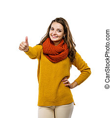 Girl in autumn clothes