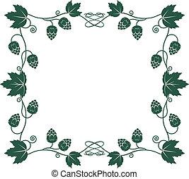 Hops Frame - Frame with vines, leaves and hops