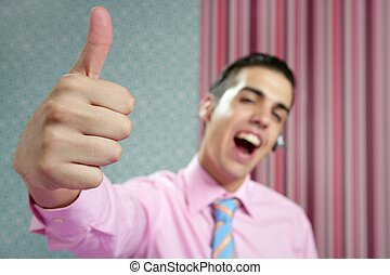Businessman young with okay hand sign - Businessman young...