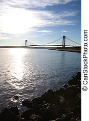 The Verrazano-Narrows Bridge , The largest and longest...