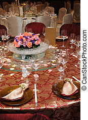 Chinese wedding table set - Table setting in a chinese...