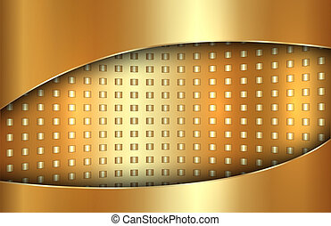 Vector abstract golden background in tabloid format - Vector...