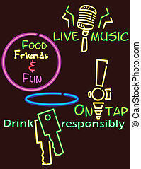 neon lights pub version 2 - Fun signs in a neon style. There...