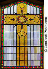 Stained Glass Details inside a Church