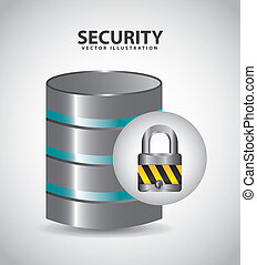 security system icon , vector illustration