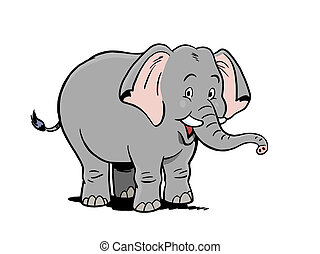 Happy Elephant - Smiling elephant