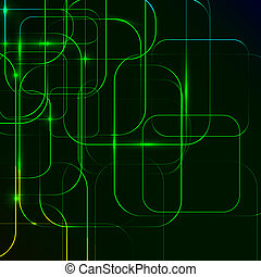 green Abstract background of digital technologies. 10 eps