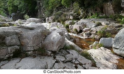 Peneda Geres National Park in - River flow in Peneda Geres...