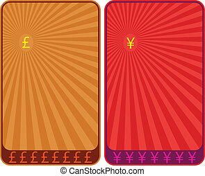 Currency Symbols, Pound And Yen Background