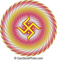 Swastica Symbol The Holy Motif Vector Art