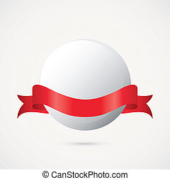 Ping pong - abstract ping pong ball on a white background