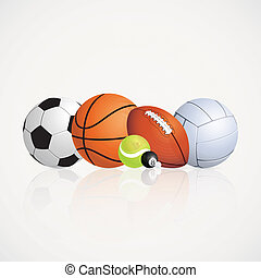 Sports - abstract sports balls on a white background