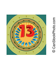 Lucky Number 13, Thirteen Vector Art