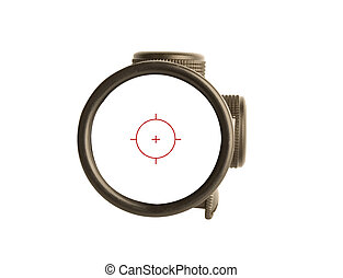 bulls seye - Image of a rifle scope sight used for aiming...