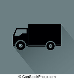 Truck - Abstract vehicle silhouette on a gray background