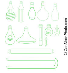 Light bulbs set - A vast assortment of light bulbs.