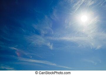 sunny sky background - nice sunny sky background