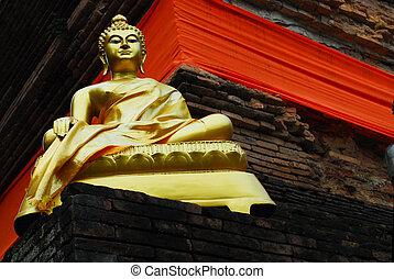 Buddha image - Wat Lok moli - Buddha image in Wat Lok moli,...