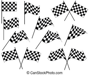Race Flag Various Designs, Vinyl Ready Vector Art