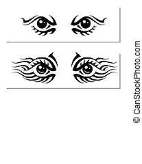Tattoo Eye Design Vector Art