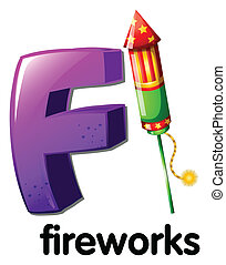 A letter F for fireworks - Illustration of a letter F for...