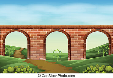 A bridge - Illustration of a bridge