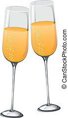 Abstract Champagne