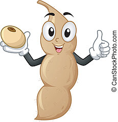 Soy Bean Mascot - Mascot Illustration Featuring a Soy Bean...
