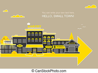 Set buildings of small business flat design - Set of...