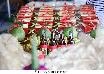 NAKRONPHATHUM THAILAND -JULY 6: Wedding ceremony July 6...