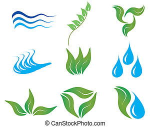 ecology icons - Ecology and botanic icons for design use
