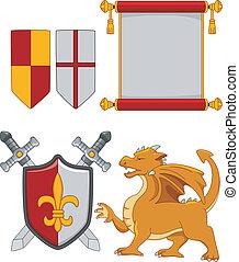 elementos,  medieval