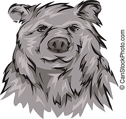 Grizzly Bear - Illustration Featuring a Grizzly Bear