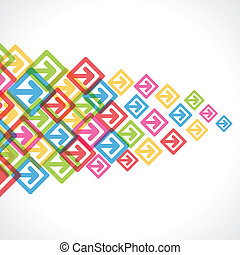 colorful arrow move or forward background vector