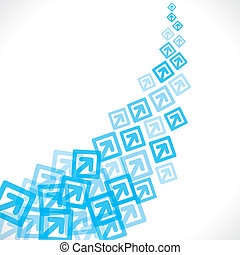 blue arrow move up background