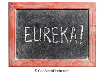 eureka exclamation handwritten on isolated vintage...