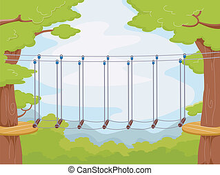 Obstacle Course - Illustration Featuring an Obstacle Course