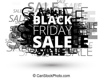 Black Friday Sale Title on abstract background from many...