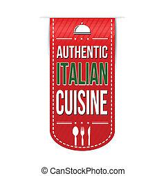 Authentic italian cuisine banner design