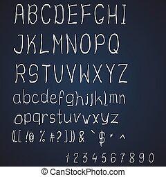 Vector scribble alphabet