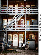 Backyard Stairs in the Poor Trois-Riviere Area - Editorial -...